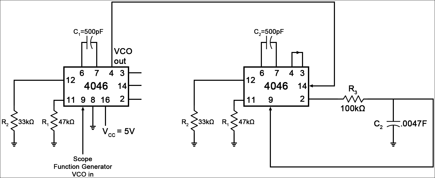 Fm Modulation And Demodulation Circuit Diagram Pictures To Pin On 80khz Modem Tom Hoctor Figure 1 Utilizing The 4046 Phase Loop Configuration